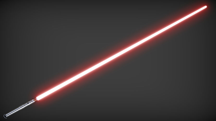 Darth Revan Lightsaber royalty-free 3d model - Preview no. 5
