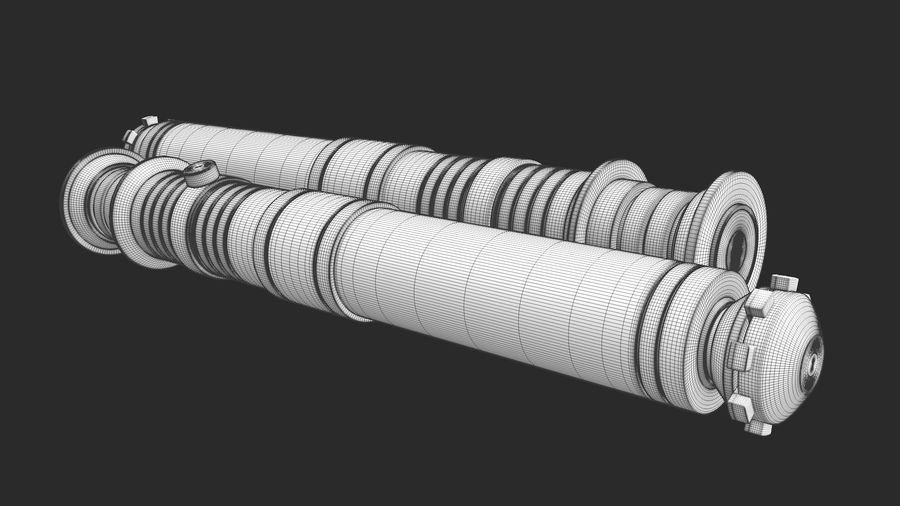 Darth Revan Lightsaber royalty-free 3d model - Preview no. 25