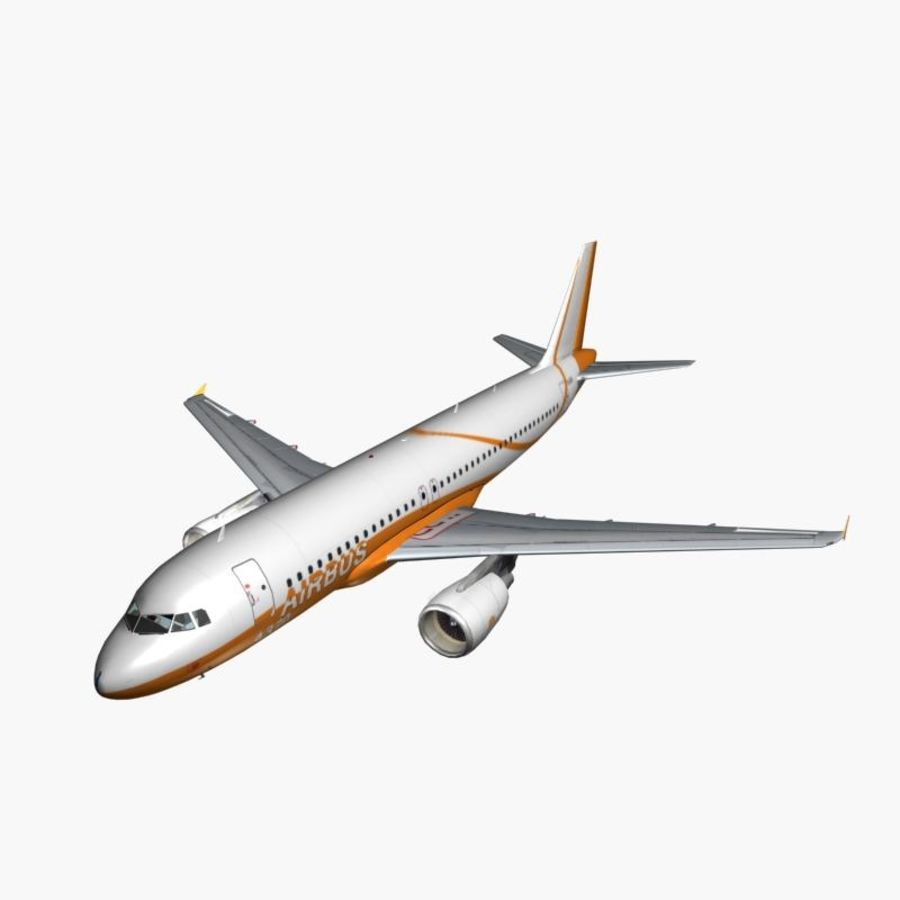 Airbus A320 royalty-free 3d model - Preview no. 2