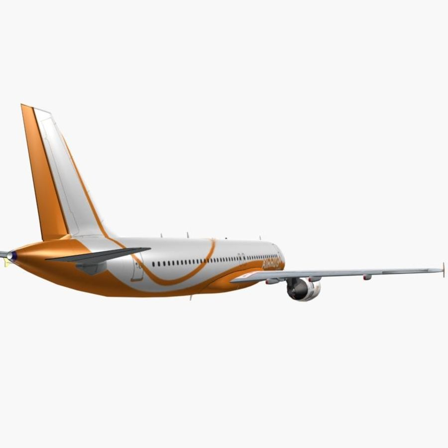 Airbus A320 royalty-free 3d model - Preview no. 6