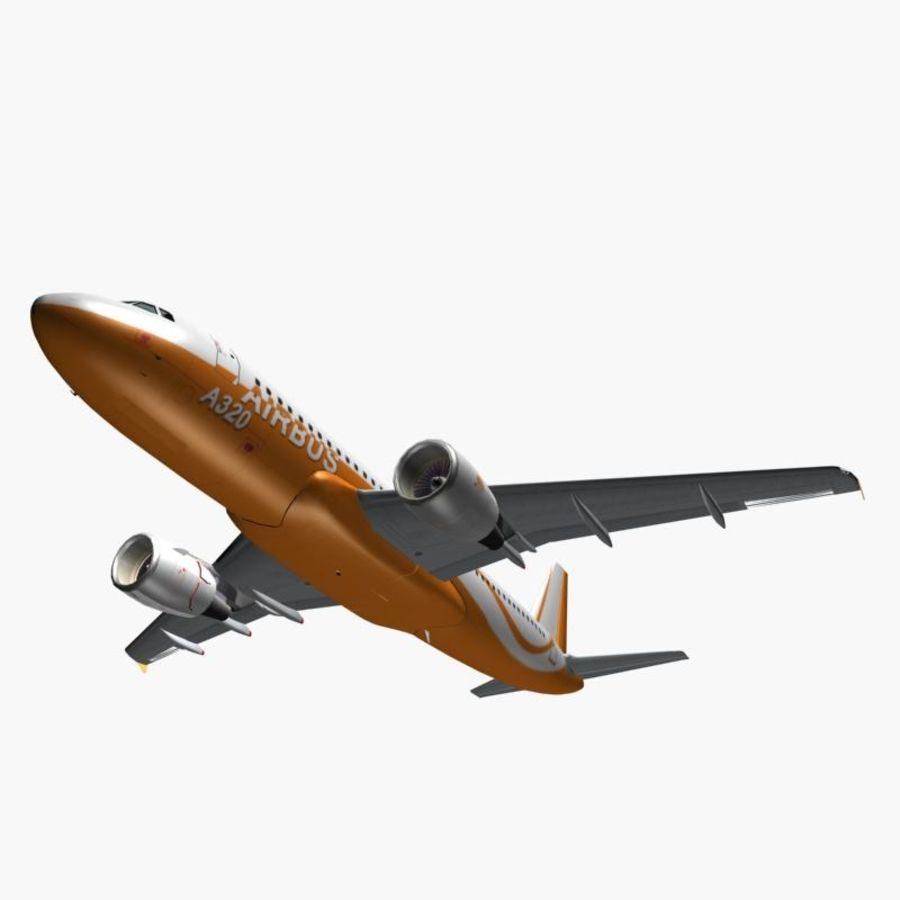 Airbus A320 royalty-free 3d model - Preview no. 3