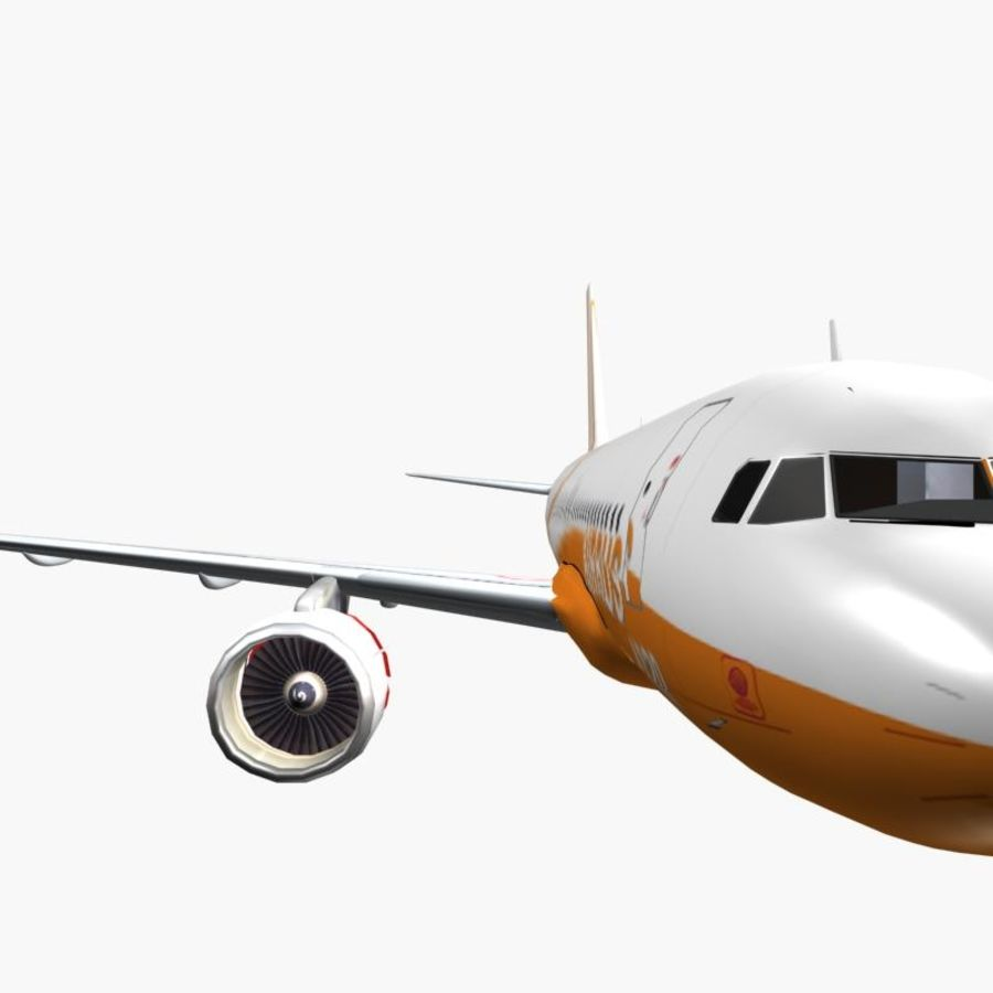 Airbus A320 royalty-free 3d model - Preview no. 5