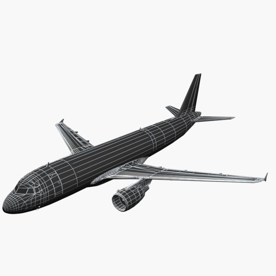 Airbus A320 royalty-free 3d model - Preview no. 9