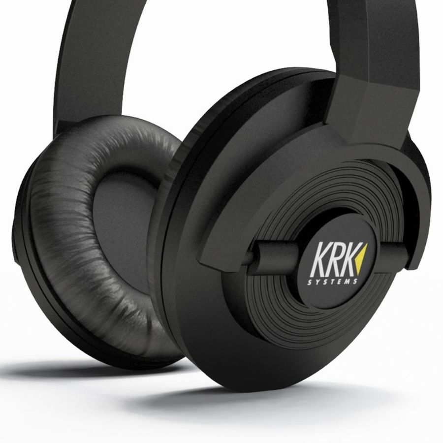 Headphones royalty-free 3d model - Preview no. 4