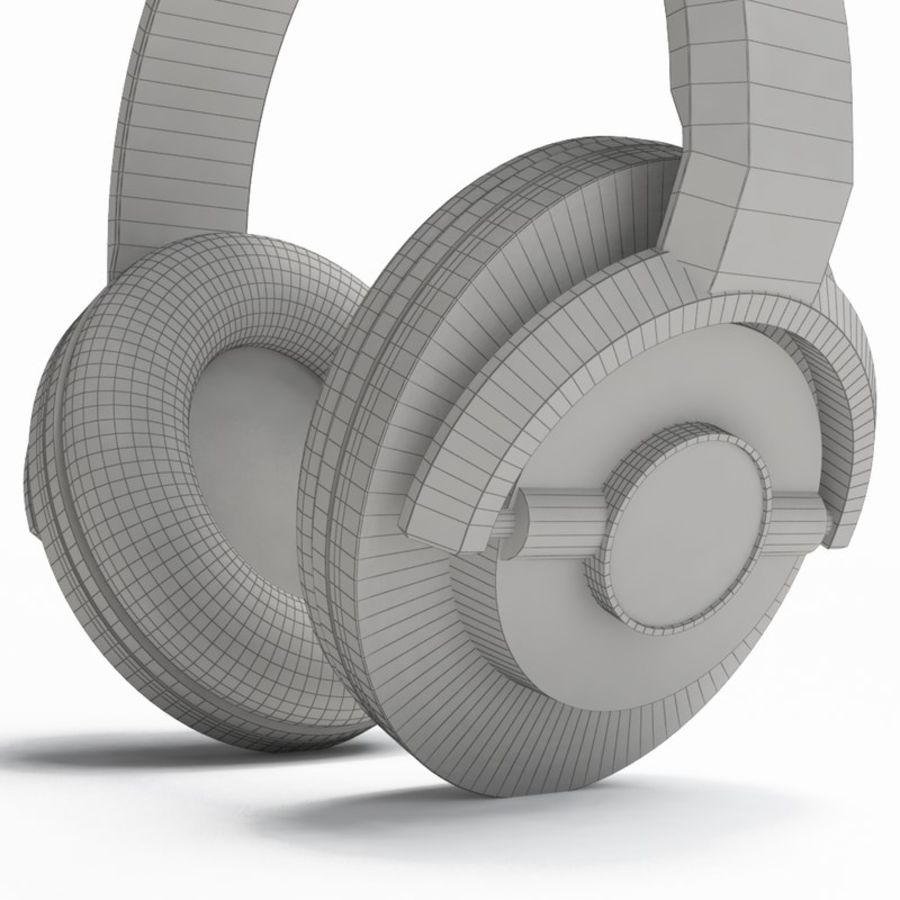 Headphones royalty-free 3d model - Preview no. 3