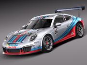 Porsche 911 GT3 Cup 2013 Мартини 3d model