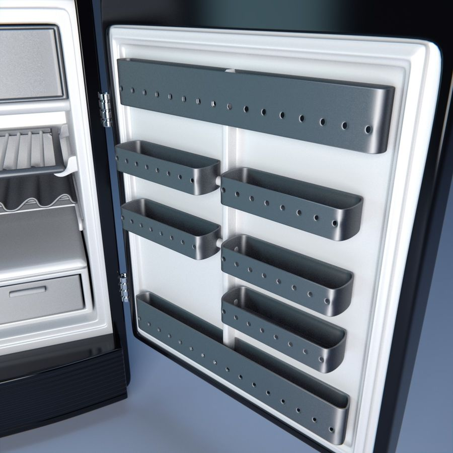 Fridge royalty-free 3d model - Preview no. 3
