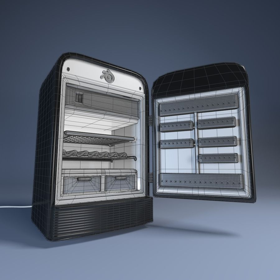 Fridge royalty-free 3d model - Preview no. 5