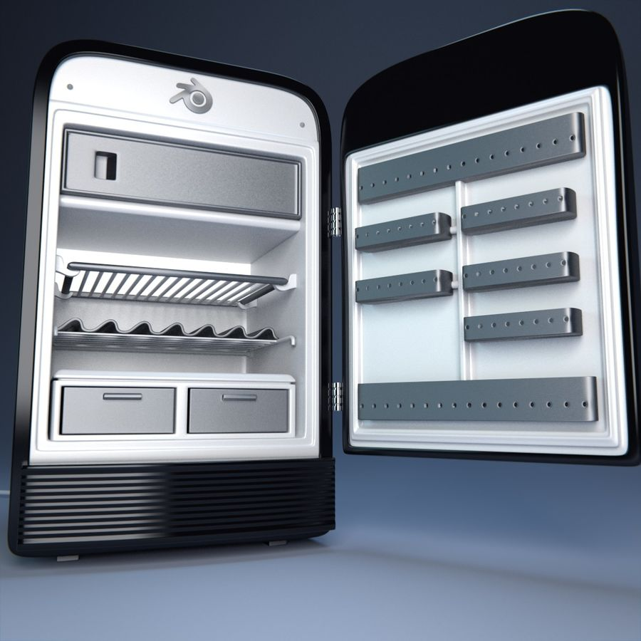 Fridge royalty-free 3d model - Preview no. 1