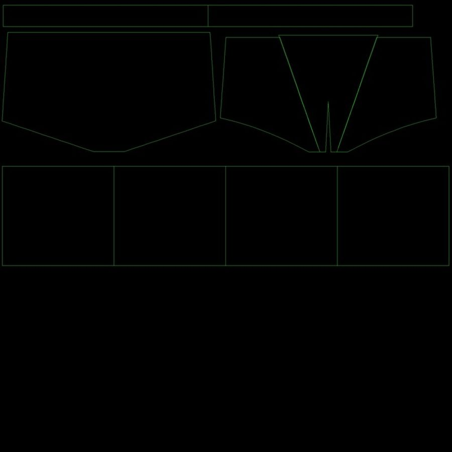 Boxer Shorts Set royalty-free 3d model - Preview no. 10