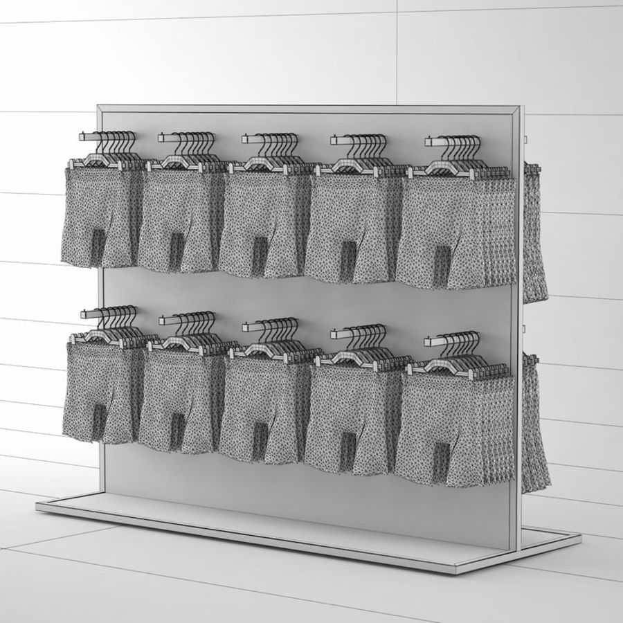 Boxer Shorts Set royalty-free 3d model - Preview no. 7