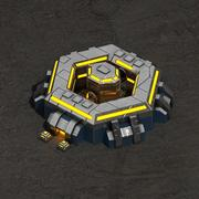 Command center sci-fi building 3d model