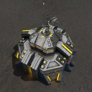 Command center v.2 sci-fi building 3d model