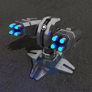 Air defence sci-fi building 3d model