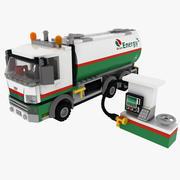 Oil Tanker Lego 3d model