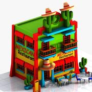 Cartoon Mexican Restaurant 3d model