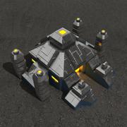 Altar sci-fi building 3d model