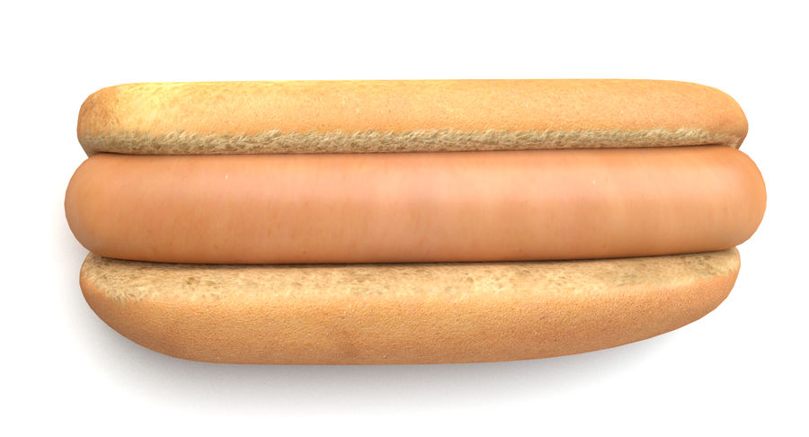 Hot Dog royalty-free 3d model - Preview no. 4