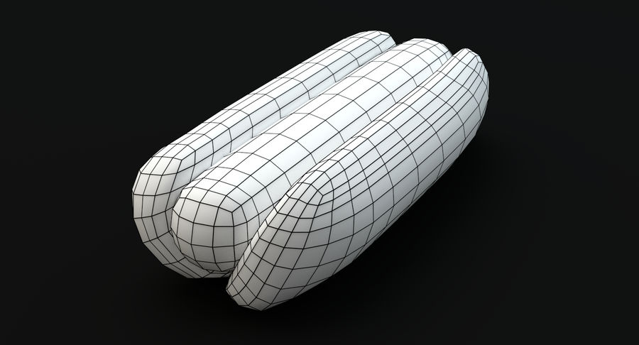 Hot Dog royalty-free 3d model - Preview no. 7