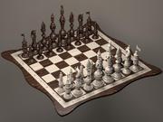 체스 세트 3 3d model