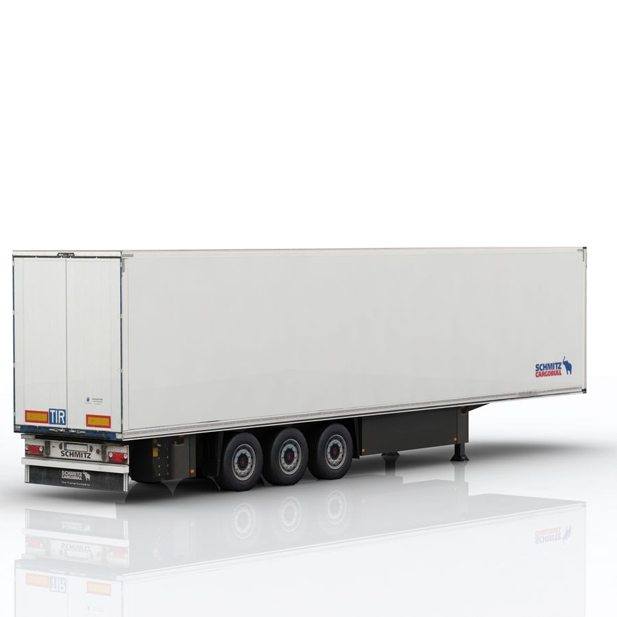 Schmitz Cargobull Trailer royalty-free 3d model - Preview no. 3
