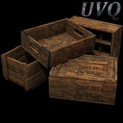 Crates collection 3d model