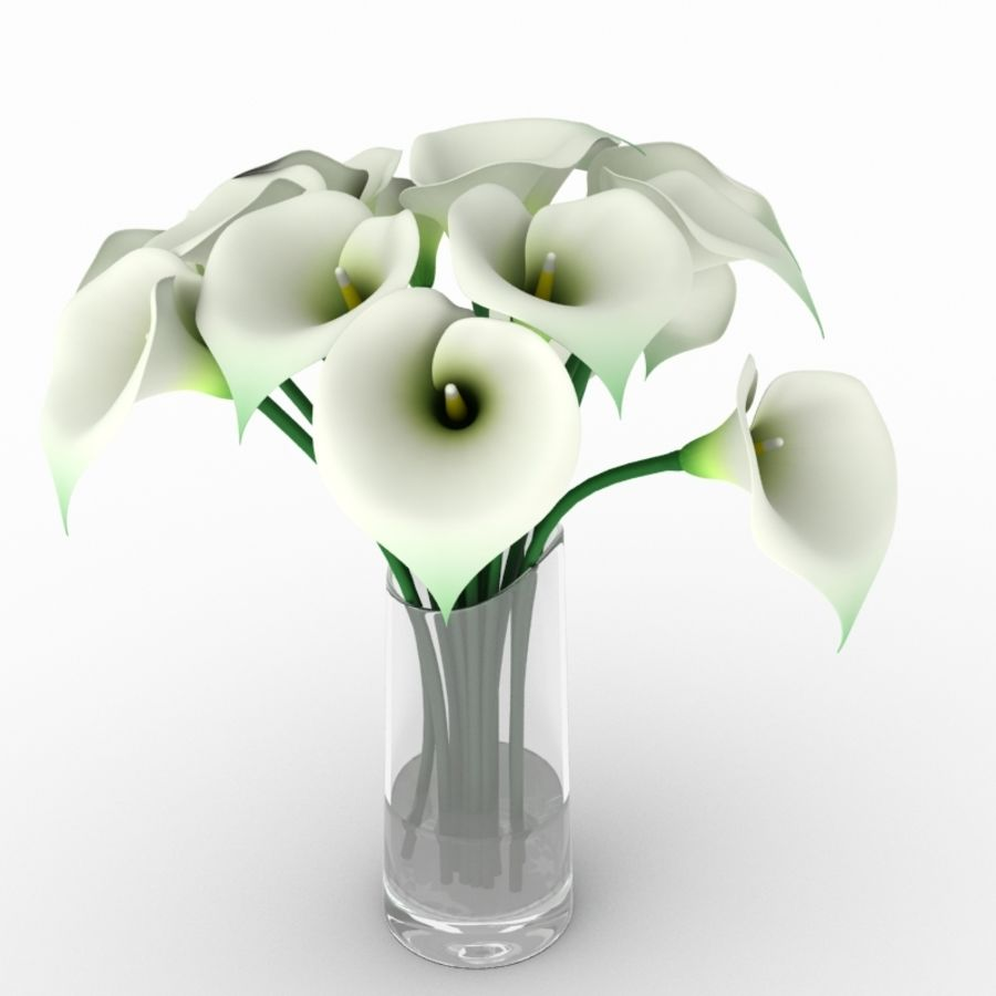 Calla Lily Flower royalty-free 3d model - Preview no. 1