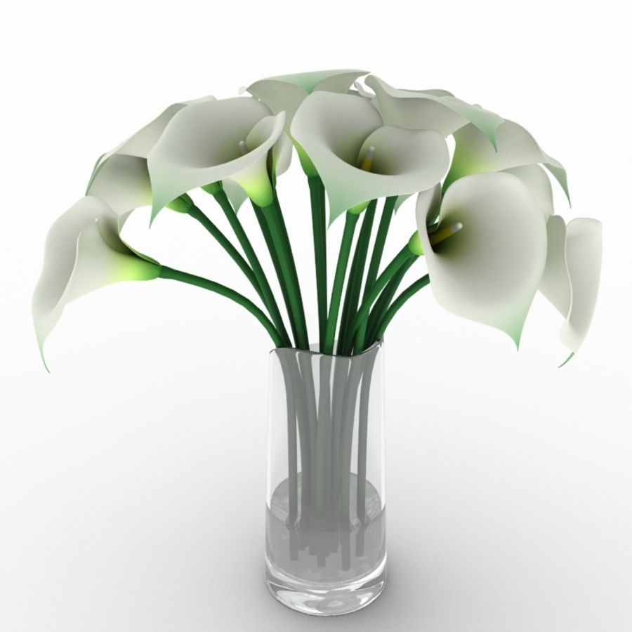 Calla Lily Flower royalty-free 3d model - Preview no. 3