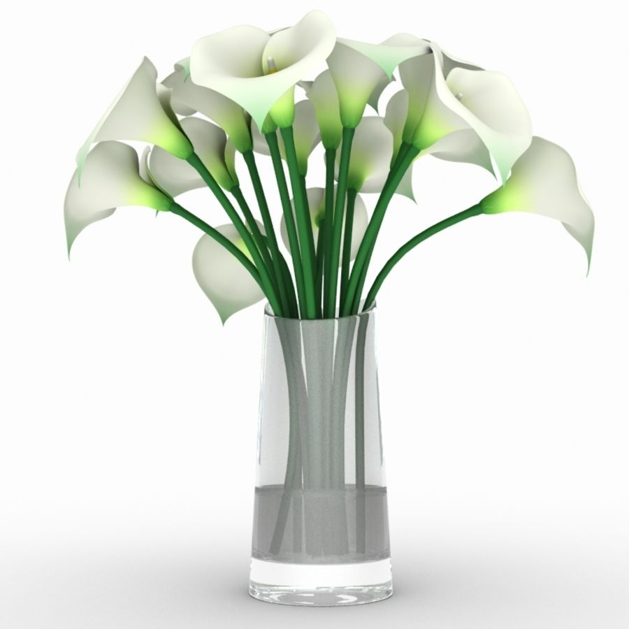 Calla Lily Flower royalty-free 3d model - Preview no. 2