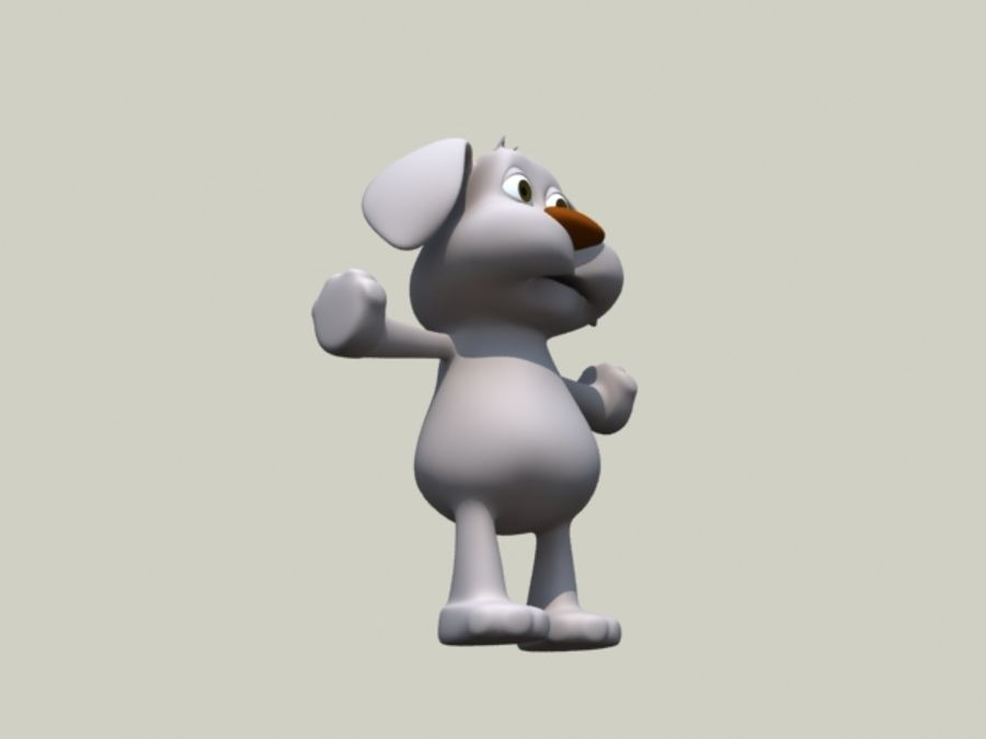 cartoon dog royalty-free 3d model - Preview no. 3