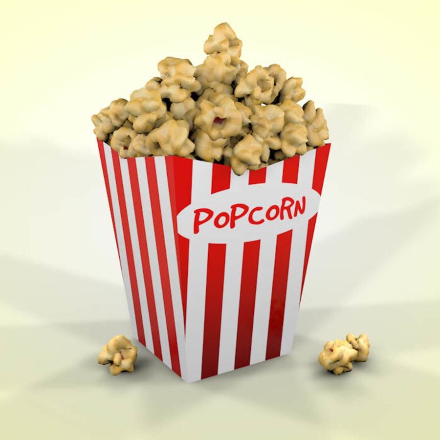 Popcorn 3D Model $6 -  unknown  c4d - Free3D