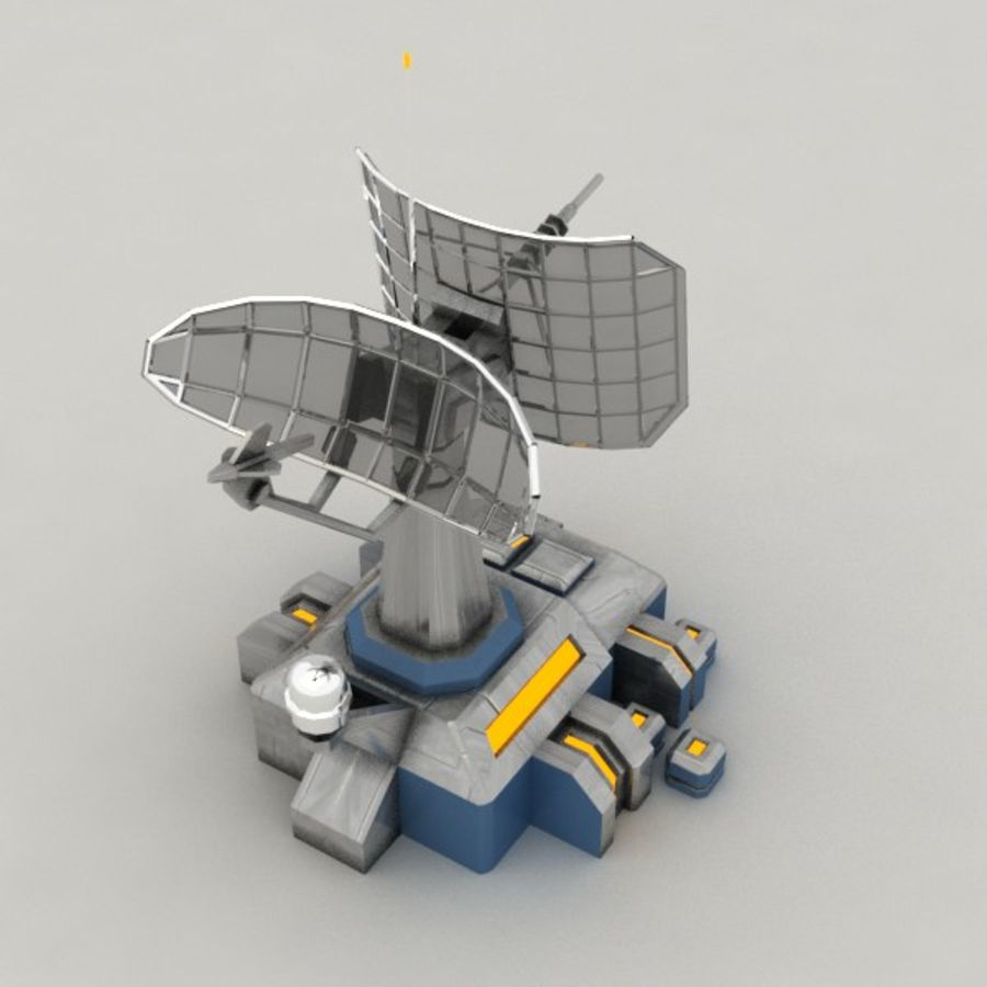 Communication center sci-fi building royalty-free 3d model - Preview no. 5