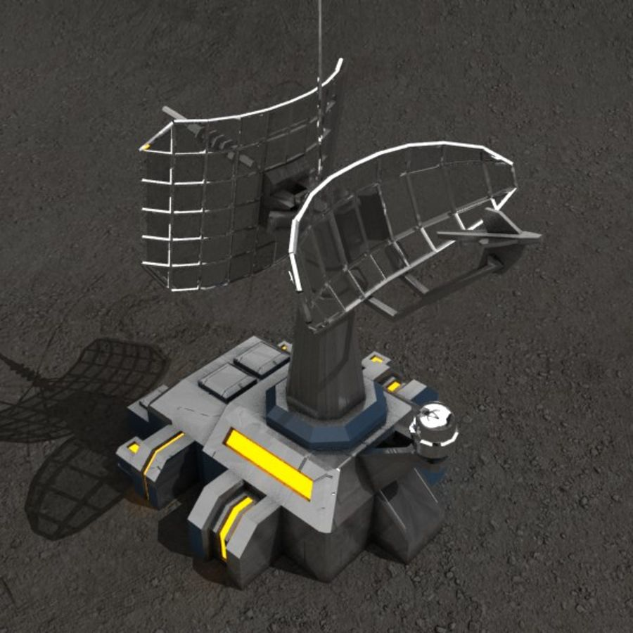 Communication center sci-fi building royalty-free 3d model - Preview no. 2