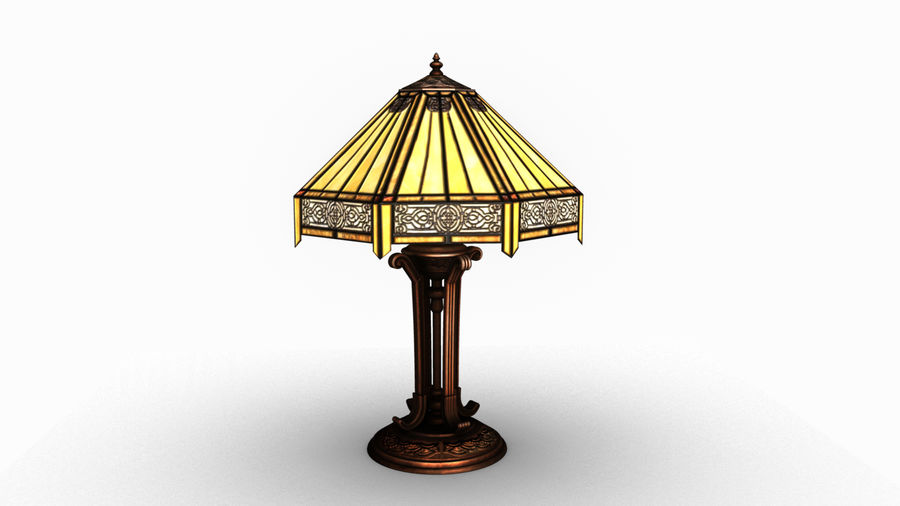 Tiffany Table Lamp royalty-free 3d model - Preview no. 1