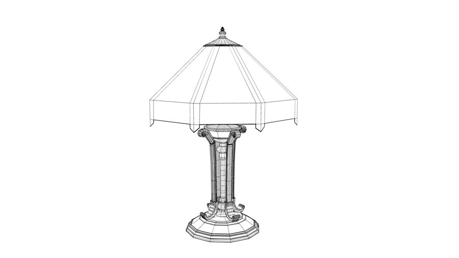 Tiffany Table Lamp royalty-free 3d model - Preview no. 4