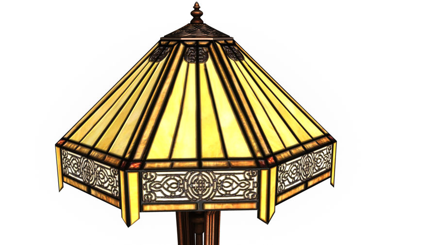 Tiffany Table Lamp royalty-free 3d model - Preview no. 3