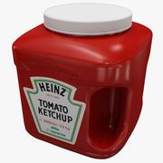 Кетчуп Хайнц Бутылка v3 3d model