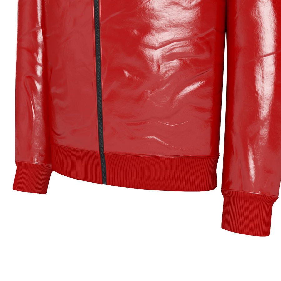 Red Craft Jacket royalty-free 3d model - Preview no. 4