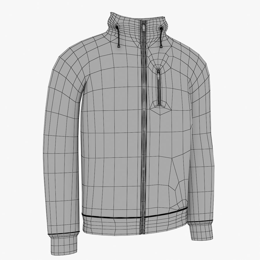 Red Craft Jacket royalty-free 3d model - Preview no. 5