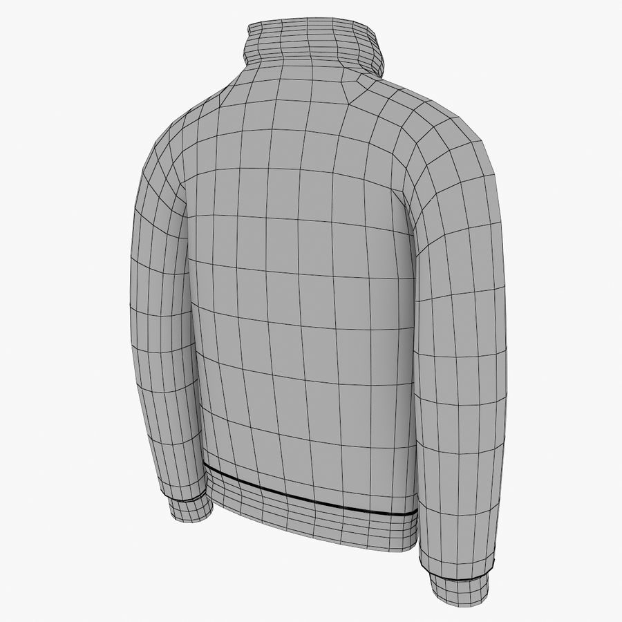 Red Craft Jacket royalty-free 3d model - Preview no. 6