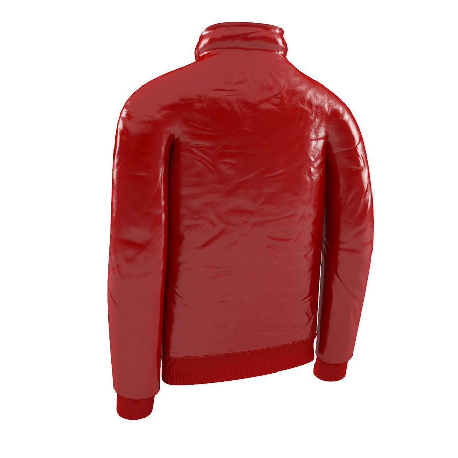 Red Craft Jacket royalty-free 3d model - Preview no. 2