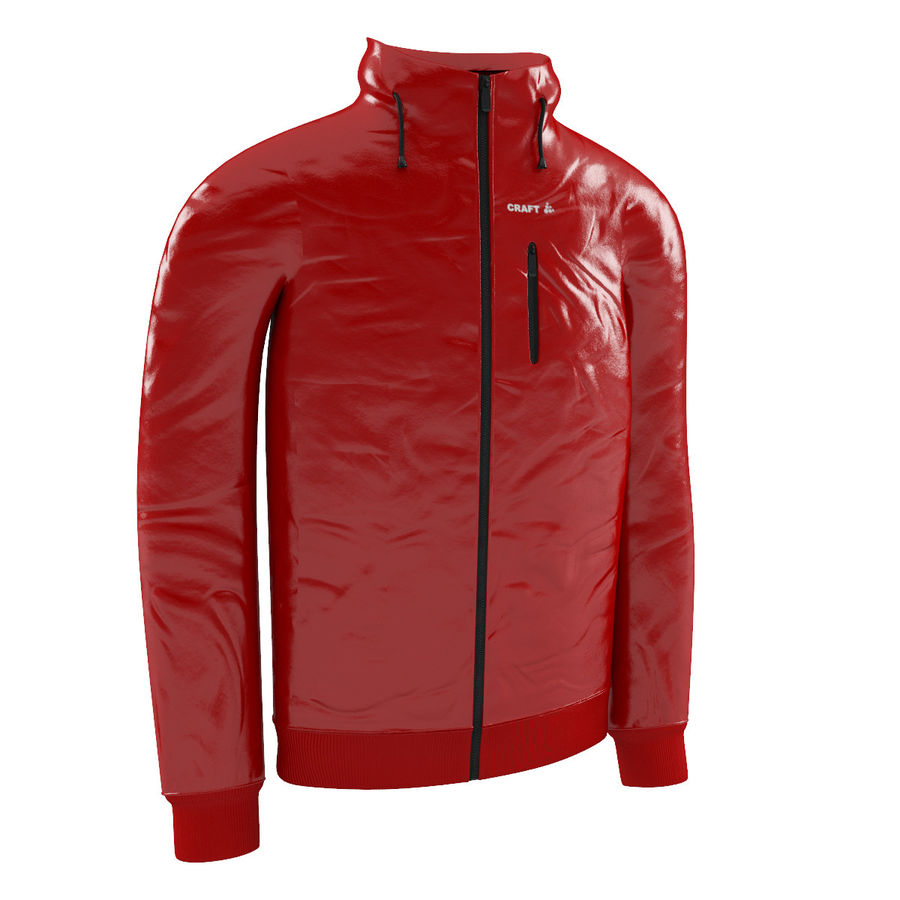 Red Craft Jacket royalty-free 3d model - Preview no. 1