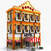Hotel Cartoon 3d model