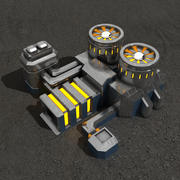 Powerplant sci-fi building 3d model