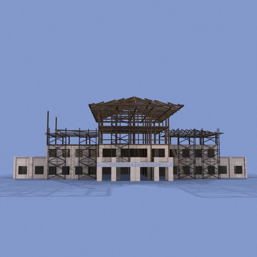 Construction Building royalty-free 3d model - Preview no. 2