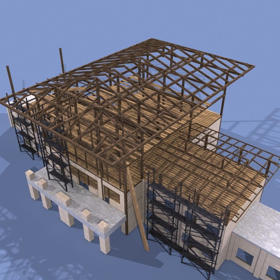 Construction Building royalty-free 3d model - Preview no. 4