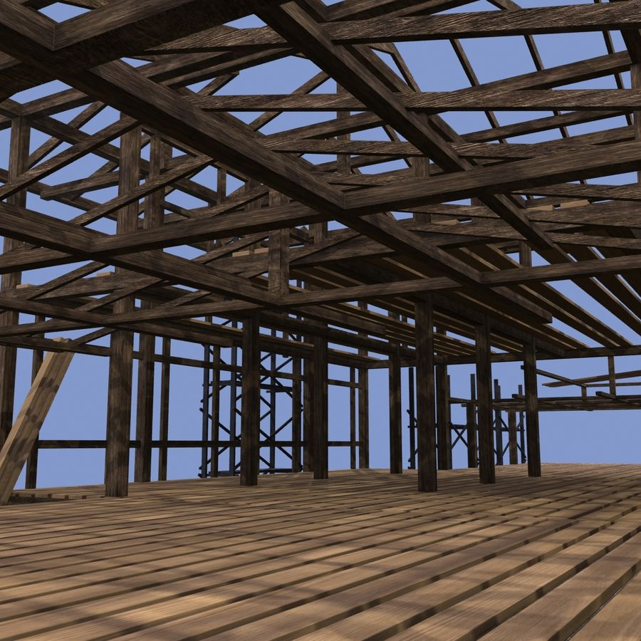 Construction Building royalty-free 3d model - Preview no. 7