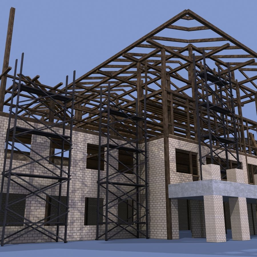 Construction Building royalty-free 3d model - Preview no. 5
