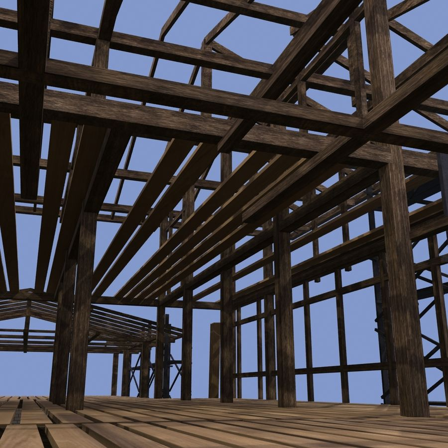 Construction Building royalty-free 3d model - Preview no. 6