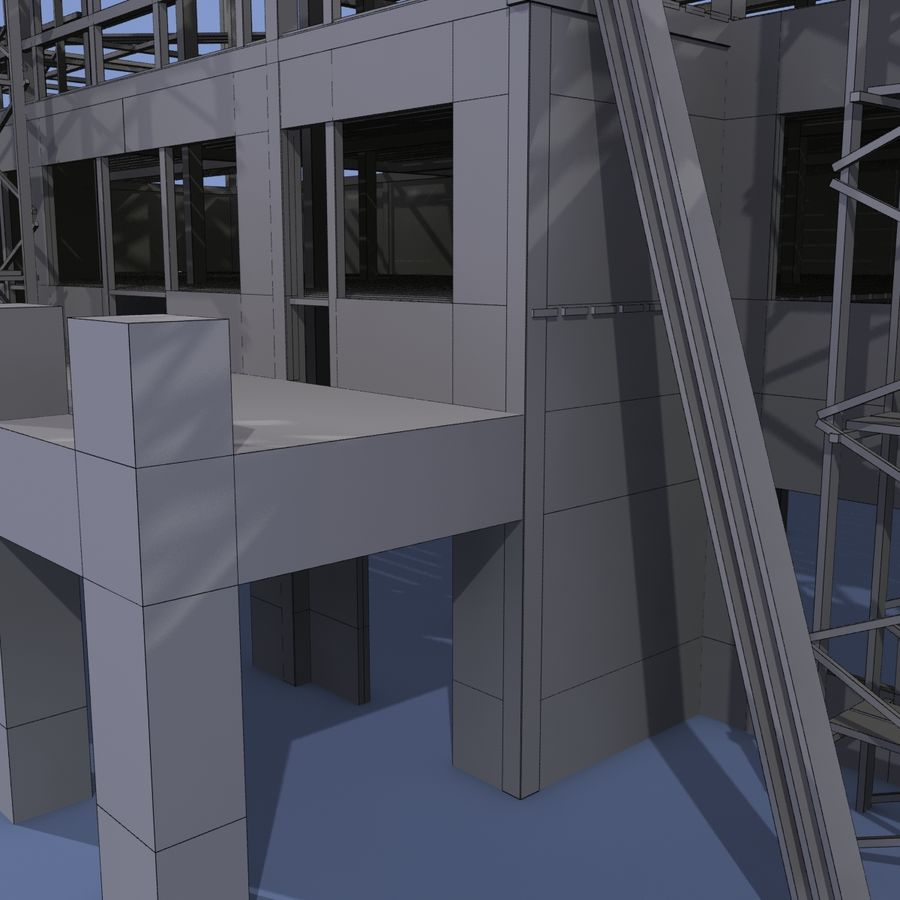 Construction Building royalty-free 3d model - Preview no. 13